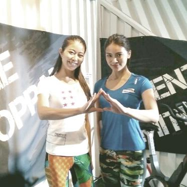 女優秋才加さんとReebok battle clubでトレーニング撮影/山口絵里加