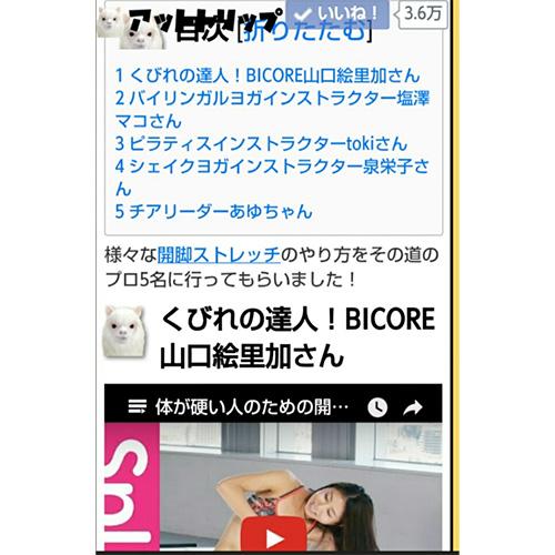 5選にランクイン/山口絵里加
